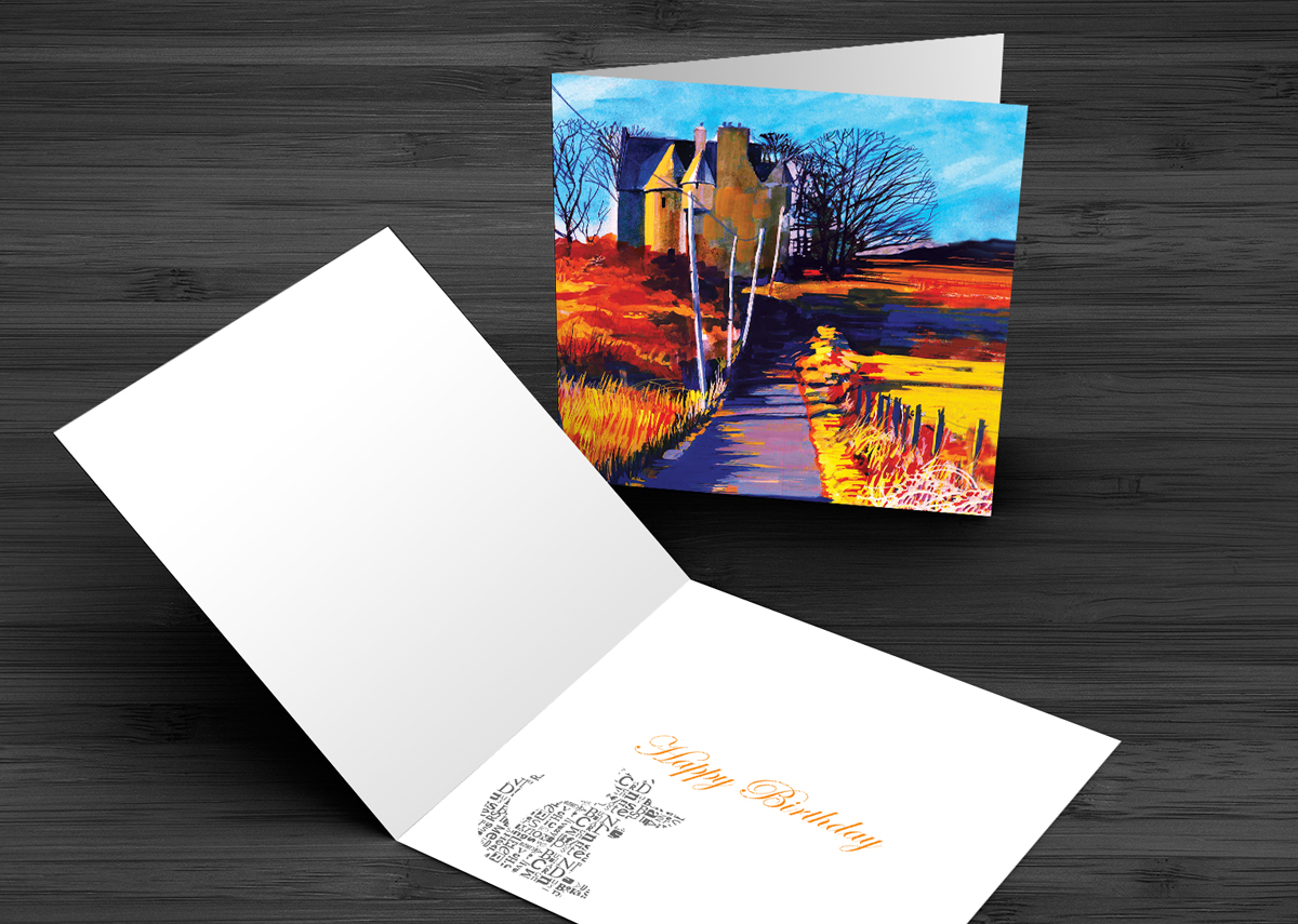 A5 Greeting Card Black Castle